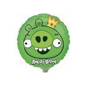 Palloncino Mylar Mini Shape Angry Birds King Pig - 22 cm.