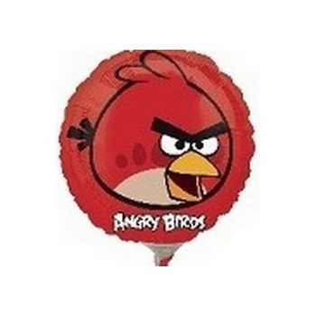 Palloncino Mylar Mini Shape Angry Birds Red Bird - 22 cm.