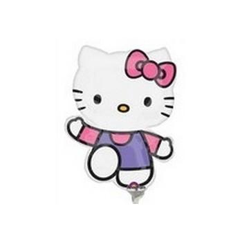 Palloncino Mylar Mini Shape Hello Kitty Pink & Purple- 35 cm.