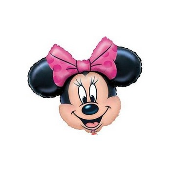 Palloncino Mylar Mini Shape Minnie Mouse Fucsia - 27 cm.