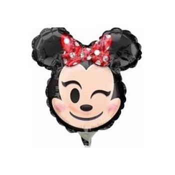 Palloncino Mylar Mini Shape Minnie Mouse Rosso Emoji - 35 cm.