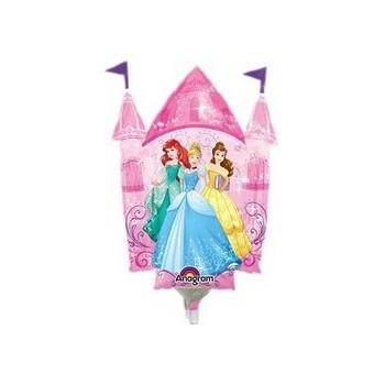 Palloncino Mylar Mini Shape Princesses Castle Disney - 35 cm.