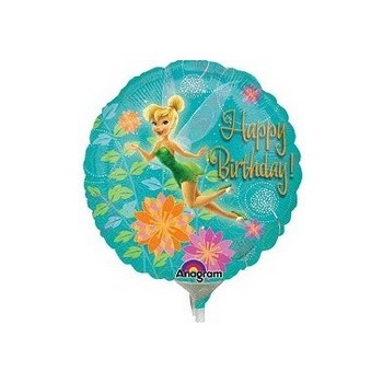 Palloncino Mylar Mini Shape Tinkerbell Birthday - 22 cm.