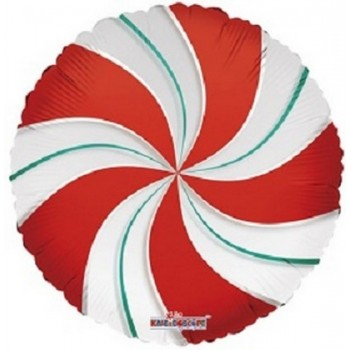 Palloncino Mylar 45 cm. Candy Mint Clearview