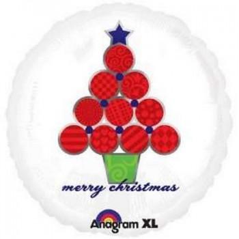 Palloncino Mylar 45 cm. Merry Christmas Festive Tree