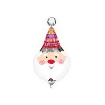 Palloncino Mylar Mini Shape 22 cm. Jolly Santa Clause