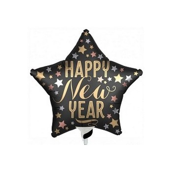 Palloncino Mylar Mini Shape 35 cm. New Year Champagne