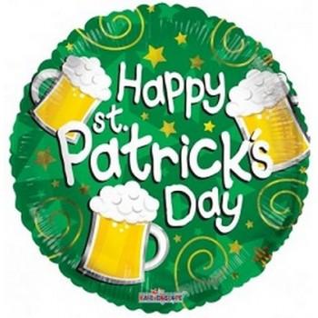 Palloncino Mylar 45 cm. St. Patrick's Day Beer