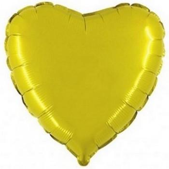 Palloncino Mylar 45 cm. Cuore Giallo