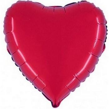 Palloncino Mylar 45 cm. Cuore Rosso