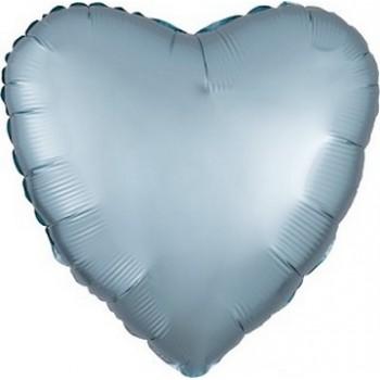 Palloncino Mylar 45 cm. Cuore Satinato Azzurro