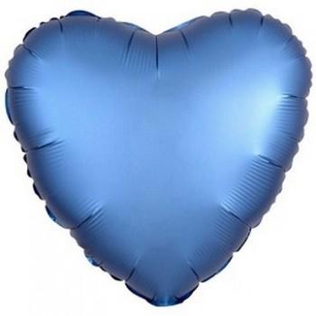 Palloncino Mylar 45 cm. Cuore Satinato Blu