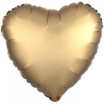 Palloncino Mylar 45 cm. Cuore Satinato Oro