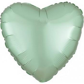 Palloncino Mylar 45 cm. Cuore Satinato Verde Menta