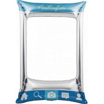 Palloncino Mylar Supershape 78,8 x 53,4 cm Social Snaps - NO ELIO