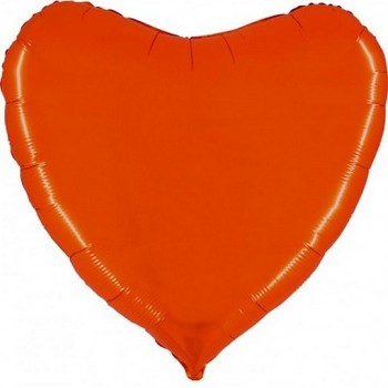 Palloncino Mylar Jumbo 91 cm. Cuore Arancione