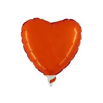Palloncino Mylar Mini Shape 23 cm. Cuore Arancione