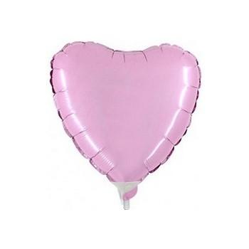 Palloncino Mylar Mini Shape 23 cm. Cuore Rosa