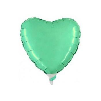 Palloncino Mylar Mini Shape 23 cm. Cuore Verde Tiffany