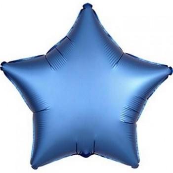 Palloncino Mylar 45 cm. Stella Satinata Blu