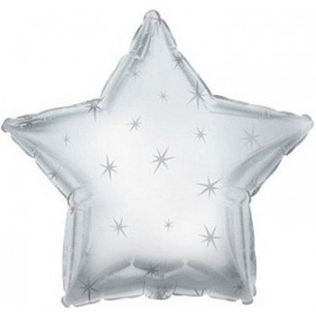 Palloncino Mylar 45 cm. Stella Sparkle Argento