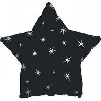 Palloncino Mylar 45 cm. Stella Sparkle Nera