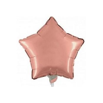 Palloncino Mylar Mini Shape 23 cm. Stella Rosa Antico