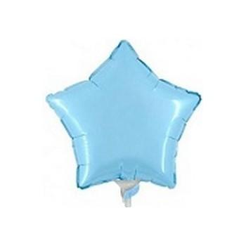 Palloncino Mylar Mini Shape 23 cm. Stella Azzurra