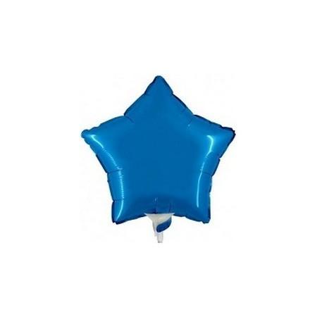Palloncino Mylar Mini Shape 23 cm. Stella Blu