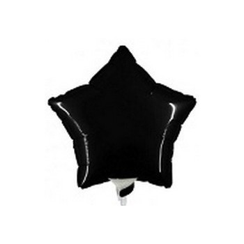 Palloncino Mylar Mini Shape 23 cm. Stella Nera