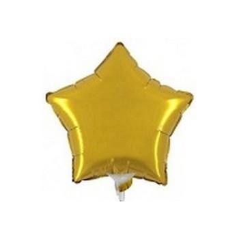 Palloncino Mylar Mini Shape 23 cm. Stella Oro
