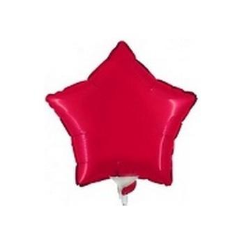 Palloncino Mylar Mini Shape 23 cm. Stella Rossa