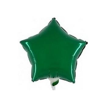 Palloncino Mylar Mini Shape 23 cm. Stella Verde Scuro