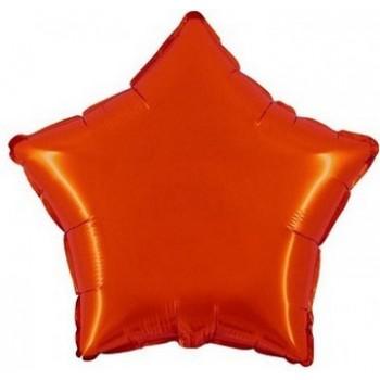 Palloncino Mylar 45 cm. Stella Arancione