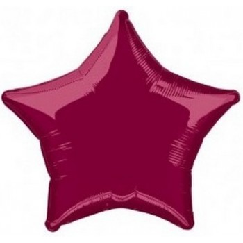 Palloncino Mylar 45 cm. Stella Bordeaux