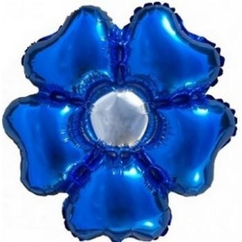 Palloncino Mylar 55 cm. Fiore Blu - NO ELIO