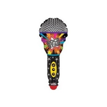 Palloncino Mylar Mini Shape Microphone Rock Star 35 cm.