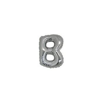 Palloncino Mylar Lettera Micro B - 17 cm. Argento