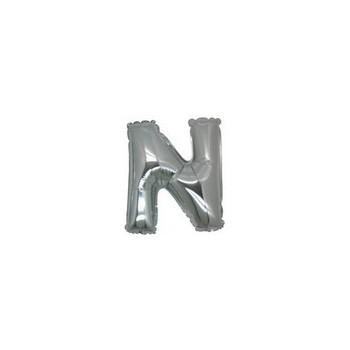 Palloncino Mylar Lettera Micro N - 17 cm. Argento