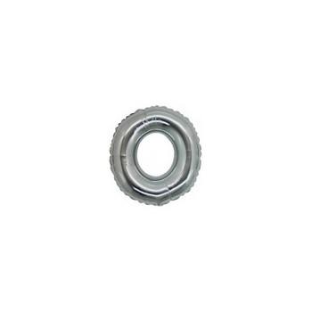 Palloncino Mylar Lettera Micro O, Numero 0 - 17 cm. Argento