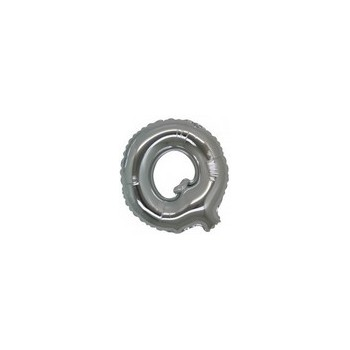 Palloncino Mylar Lettera Micro Q - 17 cm. Argento