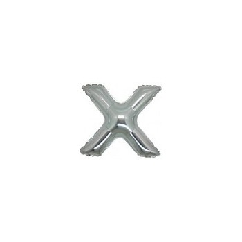 Palloncino Mylar Lettera Micro X - 17 cm. Argento