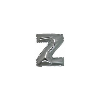 Palloncino Mylar Lettera Micro Z - 17 cm. Argento