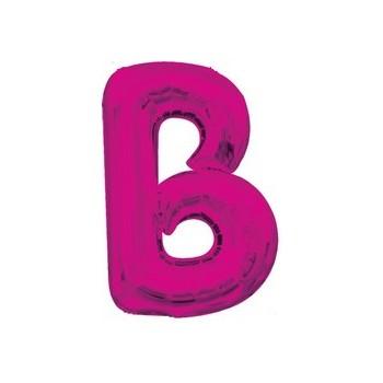 Palloncino Mylar Lettera B Media - 40 cm. Fucsia Anagram