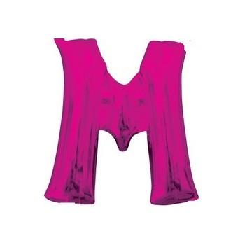 Palloncino Mylar Lettera M Media - 40 cm. Fucsia Anagram