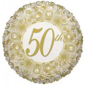 Palloncino Mylar 45 cm. 50° Anniversary