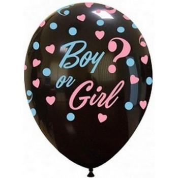 Palloncino in Lattice Rotondo 30 cm. Stampa Boy or Girl?