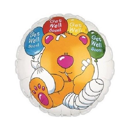 Palloncino Mylar 45 cm. Get Well Soon Bear