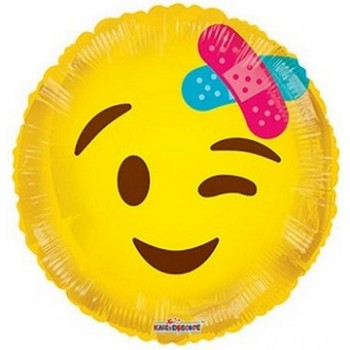 Palloncino Mylar 45 cm. Smiley With Bandage