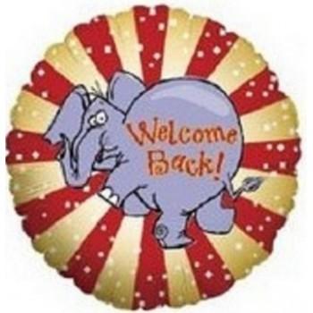 Palloncino Mylar 45 cm. Welcome Back Elephant